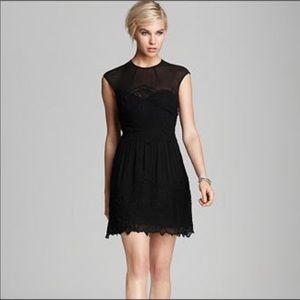 Dolce Vita black Kloey embroidered cocktail dress